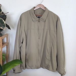 Tommy Bahama Tan Silk Lined Jacket Size L